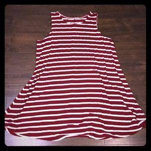 🚨3/$20🚨 🍂FALL BURGUNDY STRIPE DRESS 👗